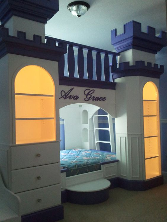 Ava Enchantment Palace Bed, castle bed, princess bed, theme bed