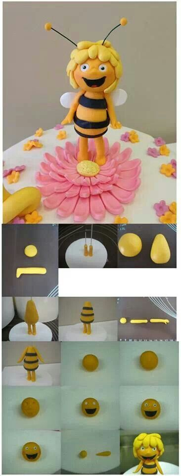 bee cake topper: