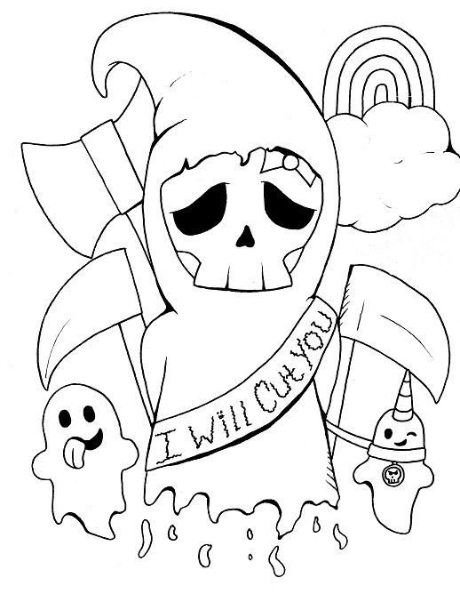 grim reaper coloring pages # 4