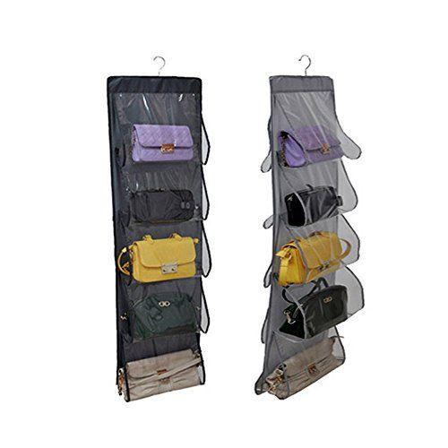 Tune Up Collection Handbag File, Clear Hanging Purse Organizer Hanging  Closet Handbag Holder 10 Pocket