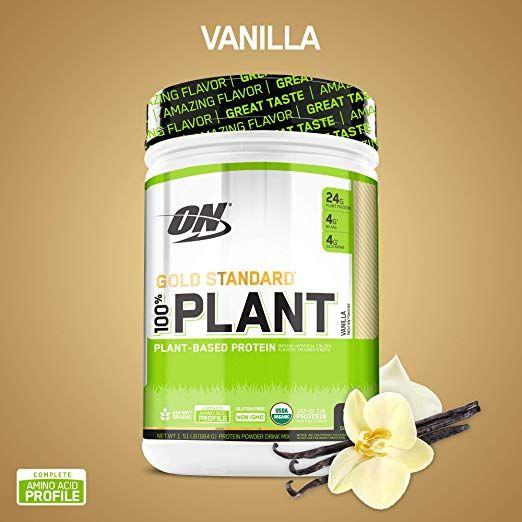 Optimum Nutrition Gold Standard 100 Organic Plant Based Vegan Protein Powder Vanilla 1 Optimum Nutrition Gold Standard Plant Based Protein Optimum Nutrition