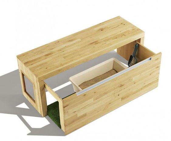 DIY litter box hideaway