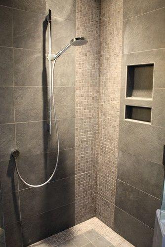 Douche inspiration salle de bain pinterest tuile salle de bains modern - Enlever calcaire carrelage douche ...