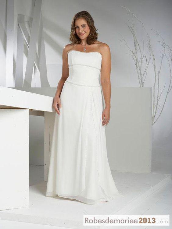 spectaculaire gaine colonne bretelles tribunal floor On robes de mariée taille plus charlotte nc