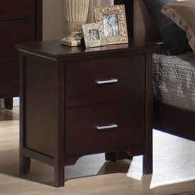 Coaster Kendra 2 Drawer Nightstand in Mahogony