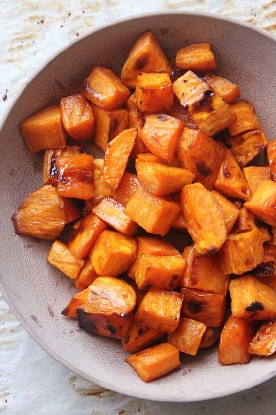 Maple Sweet Potato Bites | Recipe | Potato Bites, Potatoes and Sweet ...