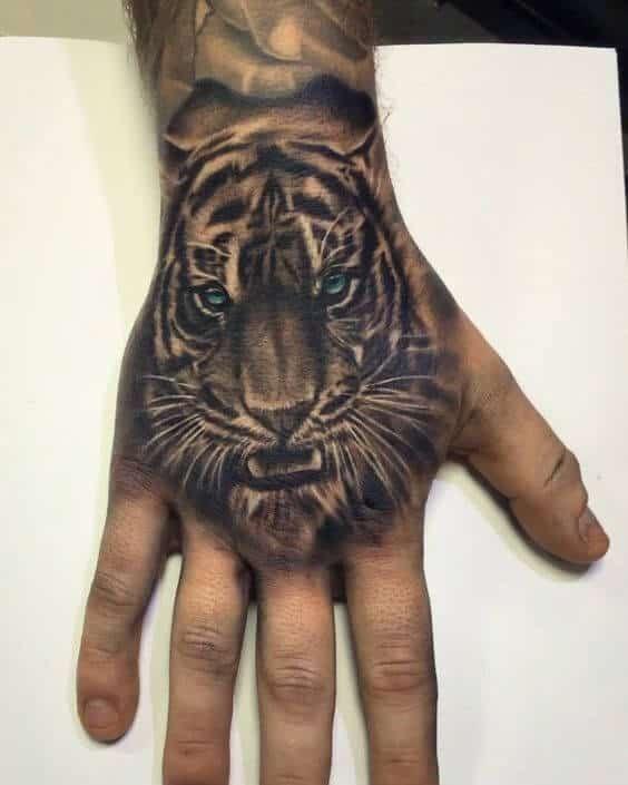 Animal Hands Tattoos : animal, hands, tattoos, Tiger, Tattoos, Guys,, Tattoos,, Tattoo