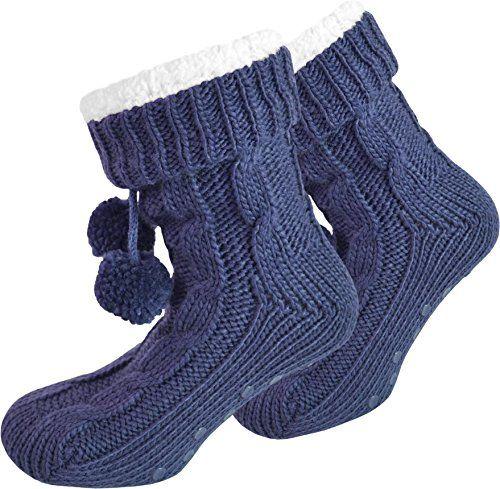 Klasse Geschenkidee z.B. Valentinstag! ABS Homesocks mit extra dickem- weichem Teddy-Innenfutter - http://on-line-kaufen.de/normani/klasse-geschenkidee-z-b-valentinstag-abs-mit