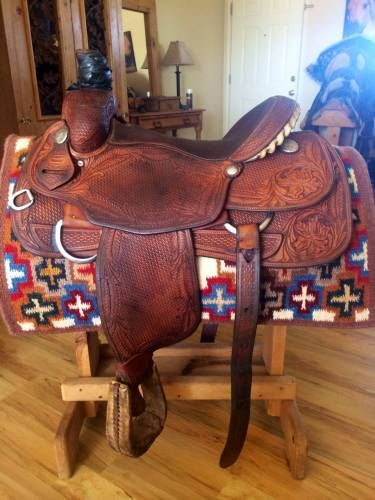 Jim Taylor Roping Saddle for Sale - For more information click on the image or see ad # 33717 on www.RanchWorldAds.com