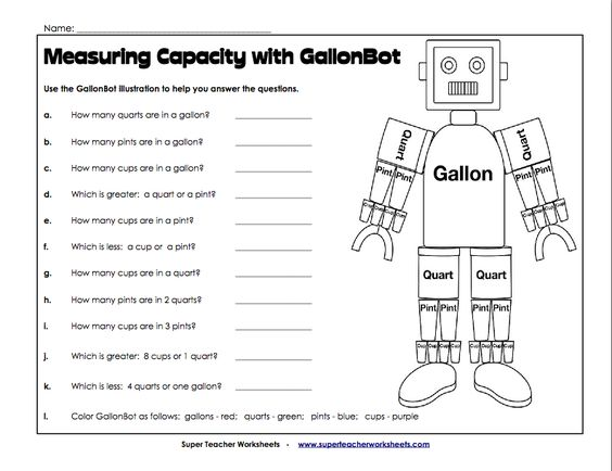 measuring capacity with gallonbot w13 cycle 1 science math classical conversations. Black Bedroom Furniture Sets. Home Design Ideas