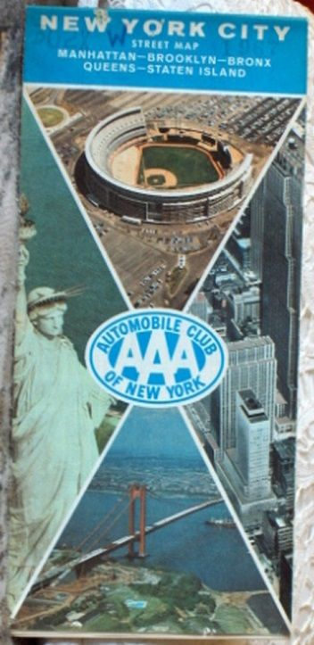 http://ajunkeeshoppe.blogspot.com/  ROAD MAP 1967 Triple A New York City Street Map AAA