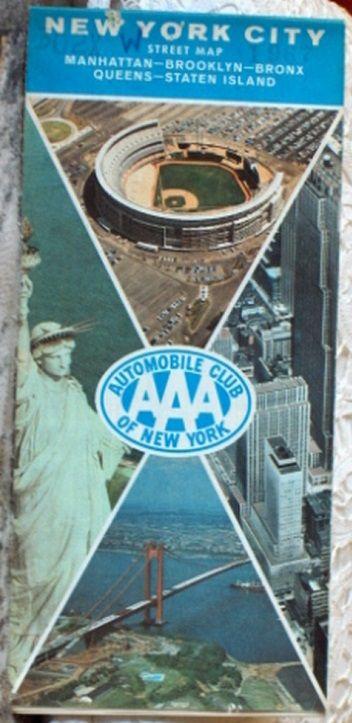 http://ajunkeeshoppe.blogspot.com/  ROAD MAP 1967 Triple A New York City Street Map AAA