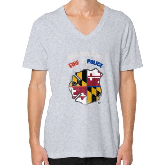 Maryland police alone we are strong V-Neck (on man)