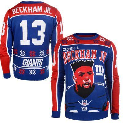 Women's New York Giants Odell Beckham Jr. Royal Tri-Blend Name & Number T-Shirt