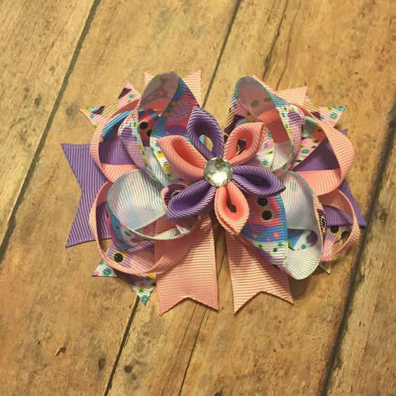 Owl TBB boutique hair bow #bowtifulblessings