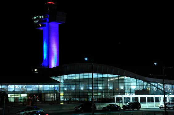 JFK lit up for the New York Giants...ALL IN!