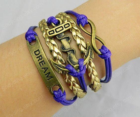 jewelry Antique Bronze Dearm Anchor Bracelet Infinity by Colorbody, $5.99