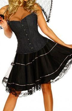 Satin Black Set Corsets Sexy #Lingerie Style Code: 07306 $28.49