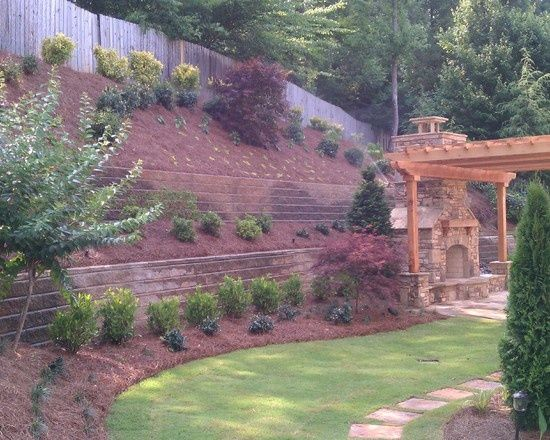 Steep hillside landscaping ideas steep like ours for Landscape drainage slope