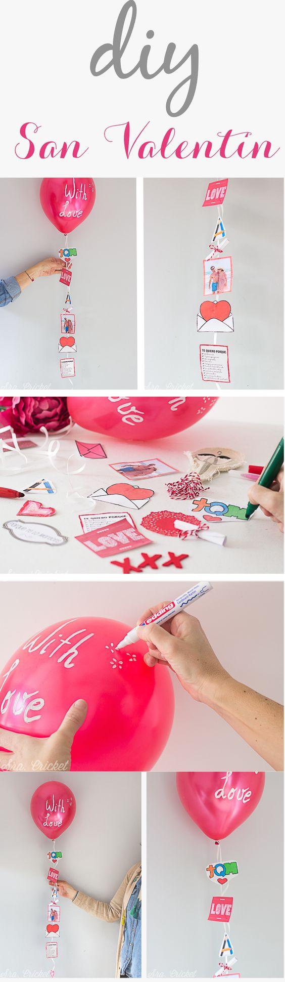 San Valentin Decoration Diy San Valent N Globo Con Recuerdos Fotos Mensajes