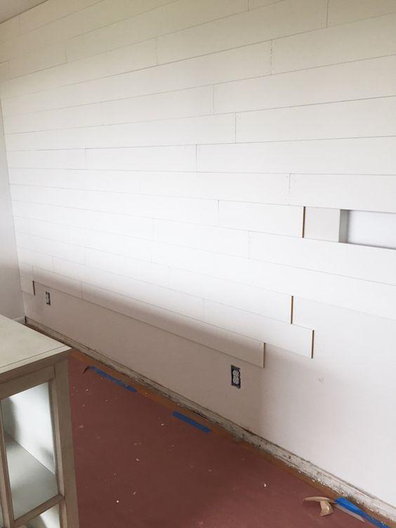 Shiplap Walls Mdf Random Length Installation Nailed