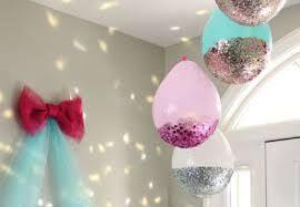 Resultado de imagem para decoração com balões e tule