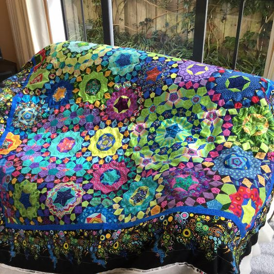 Wendy's quilts and more: Hand quilting my la passacaglia quilt: