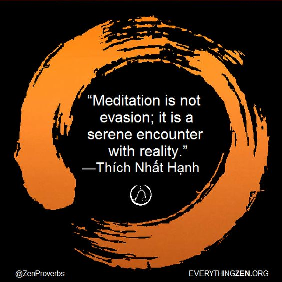 "Quote of the Day: ""Meditation is not evasion; it is a serene encounter with reality."" — Thích Nhất Hạnh [6041] 16"