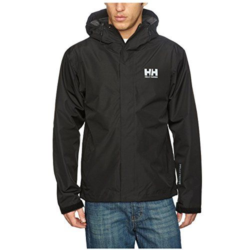 Windproof Helly-Hansen mens Seven J Waterproof and Breathable Rain Jacket With Hood