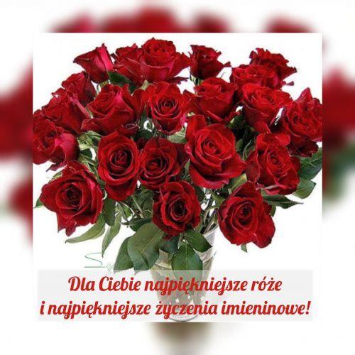 Kartka Pod Tytulem Dla Ciebie W Dniu Imienin Christmas Wreaths Floral Floral Wreath