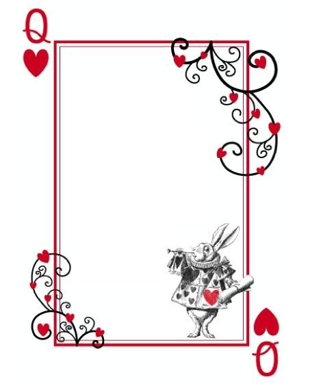alice in wonderland card soldiers template - alice in wonderland templates alice in wonderland