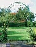 BRAND NEW 2M Dark Green Metal Garden Arch - Roses & Climbers Archway for Climbing Plants: Amazon.co.uk: Garden & Outdoors