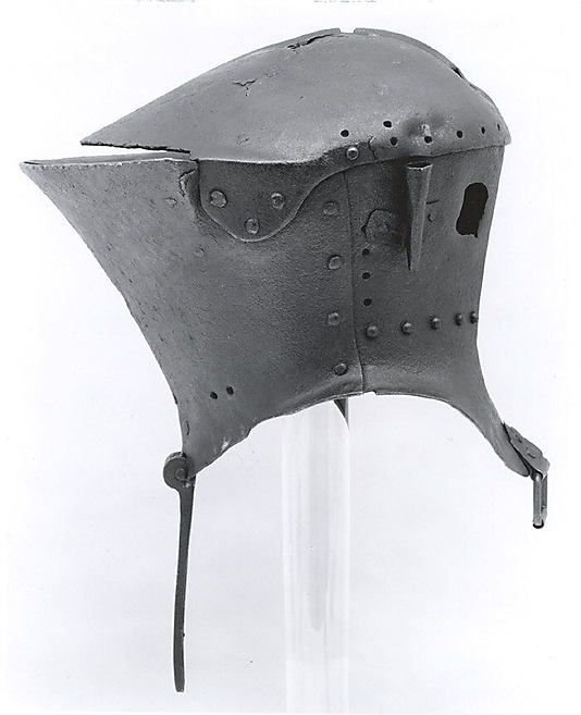 Tournament helm, 1475-1500, Italy, steel, 19.75 lbs.