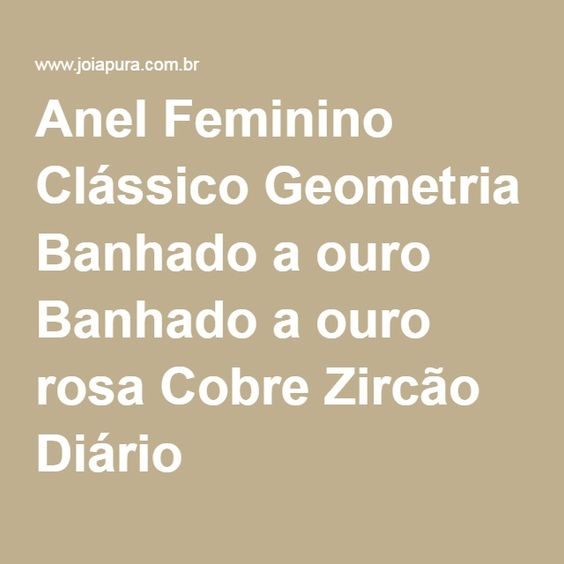 Anel Feminino Clássico Geometria Banhado a ouro Banhado a ouro rosa Cobre Zircão Diário
