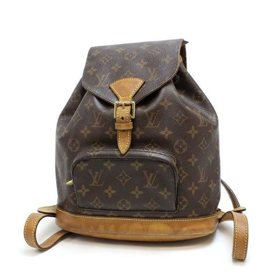 Louis Vuitton Montsouris MM Monogram Backpacks Brown Canvas M51136