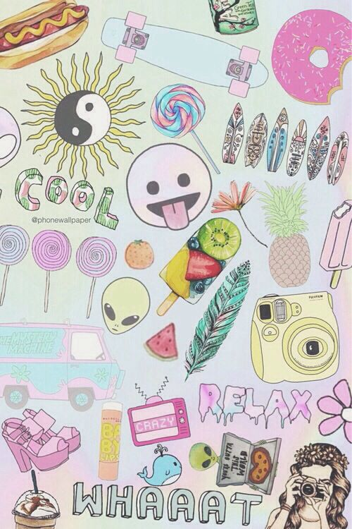 girly collage wallpaper - photo #30
