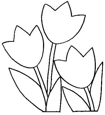 tulipanes colorear - Buscar con Google