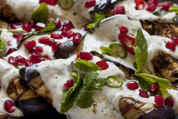 Grilled eggplant with tahini and yoghurt dressing | Food: Soup, Salad ...