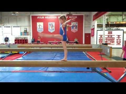 Level 1 Beam Routine Youtube Gymnastics Routines Gymnastics Levels Gymnastics Training