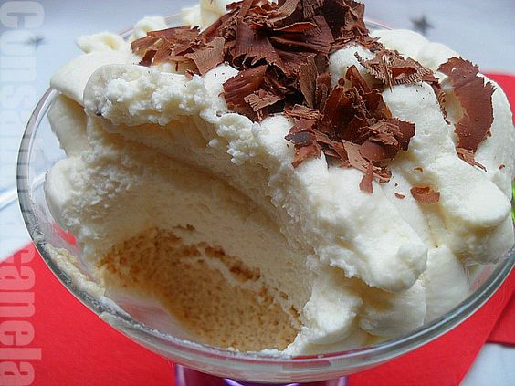 Copa doble mousse, de turrón y chocolate blanco