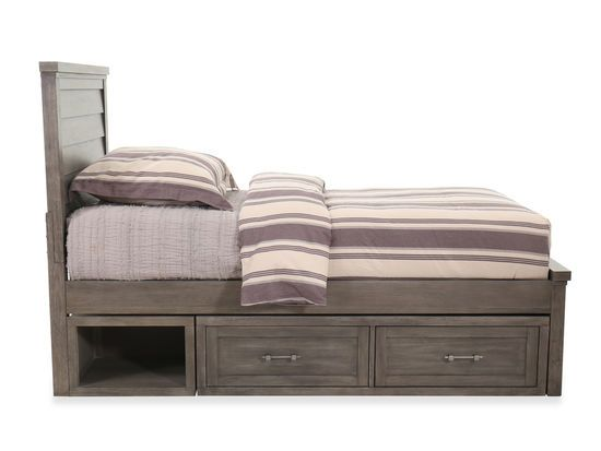 Two Drawer Transitional Youth Underbed Storage Unit In Brown