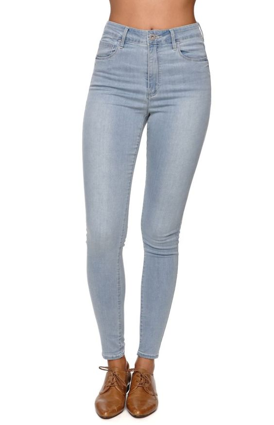 Faded High Waisted Jeans - Xtellar Jeans