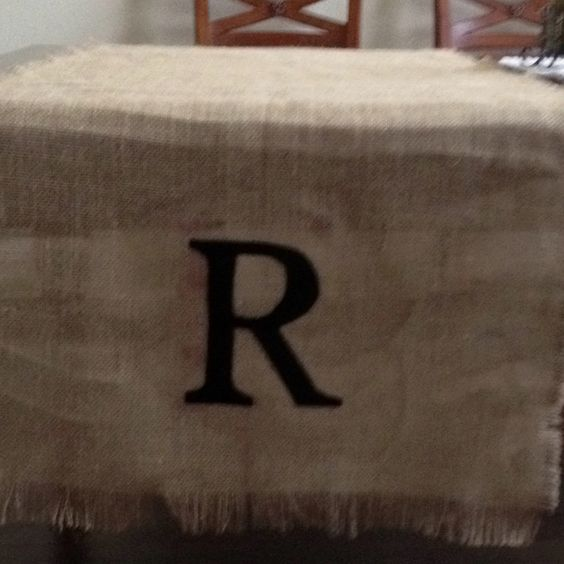 Thanks to Brook for my new burlap runner....