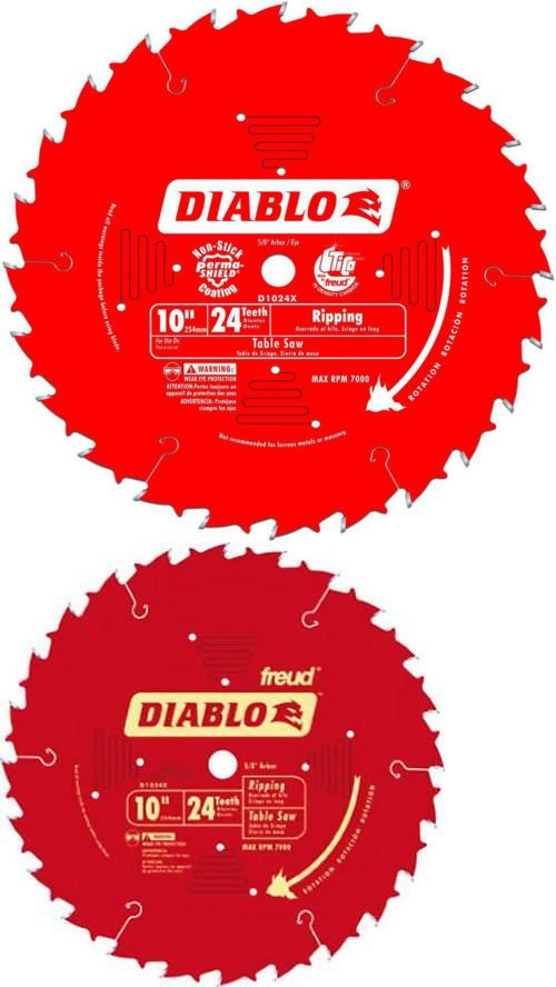 Saw Blades 122837 Freud D1024x Diablo 10 Inch 24 Tooth Atb Ripping Saw Blade With 5 8 Inch Arbor A Buy It Now Only 29 99 O Saw Blade 10 Things Saw Blades