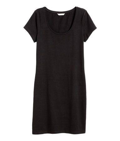 Robe ajustée en jersey | Noir | Ladies | H&M CA