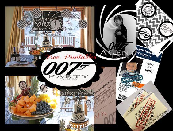 007 James Bond Party Free Templates For Invites Finger Prints Spy