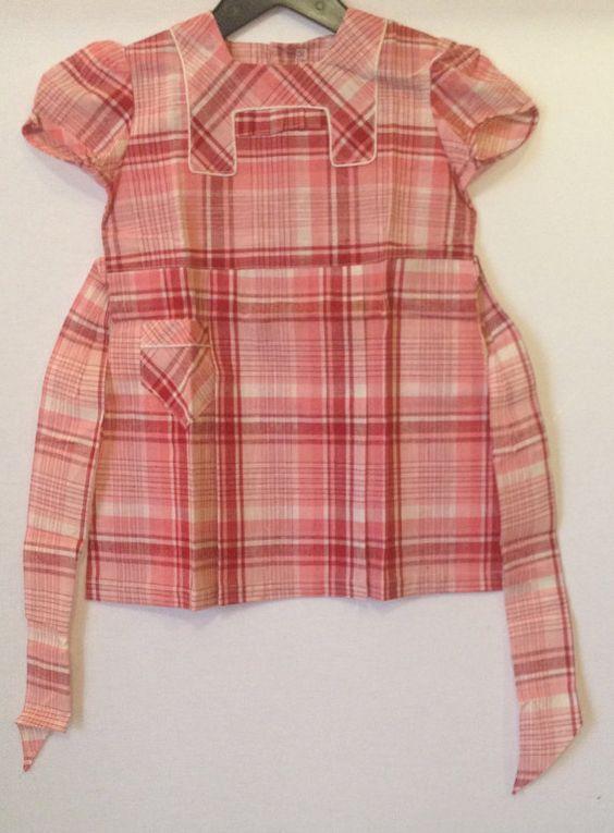Vintage 40's 50's Children's clothing  Girl by CasablancaShopParis