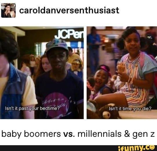 Caroldanversenthusiast Baby Boomers Vs Millennials Gen Z Ifunny Tumblr Funny Funny Tumblr Posts Funny