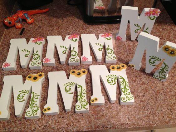 Diy wood monogram letters for wedding centerpieces all
