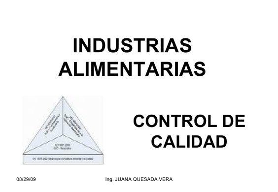 INDUSTRIAS ALIMENTARIAS by guest644c60 via slideshare